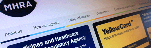 MHRA website