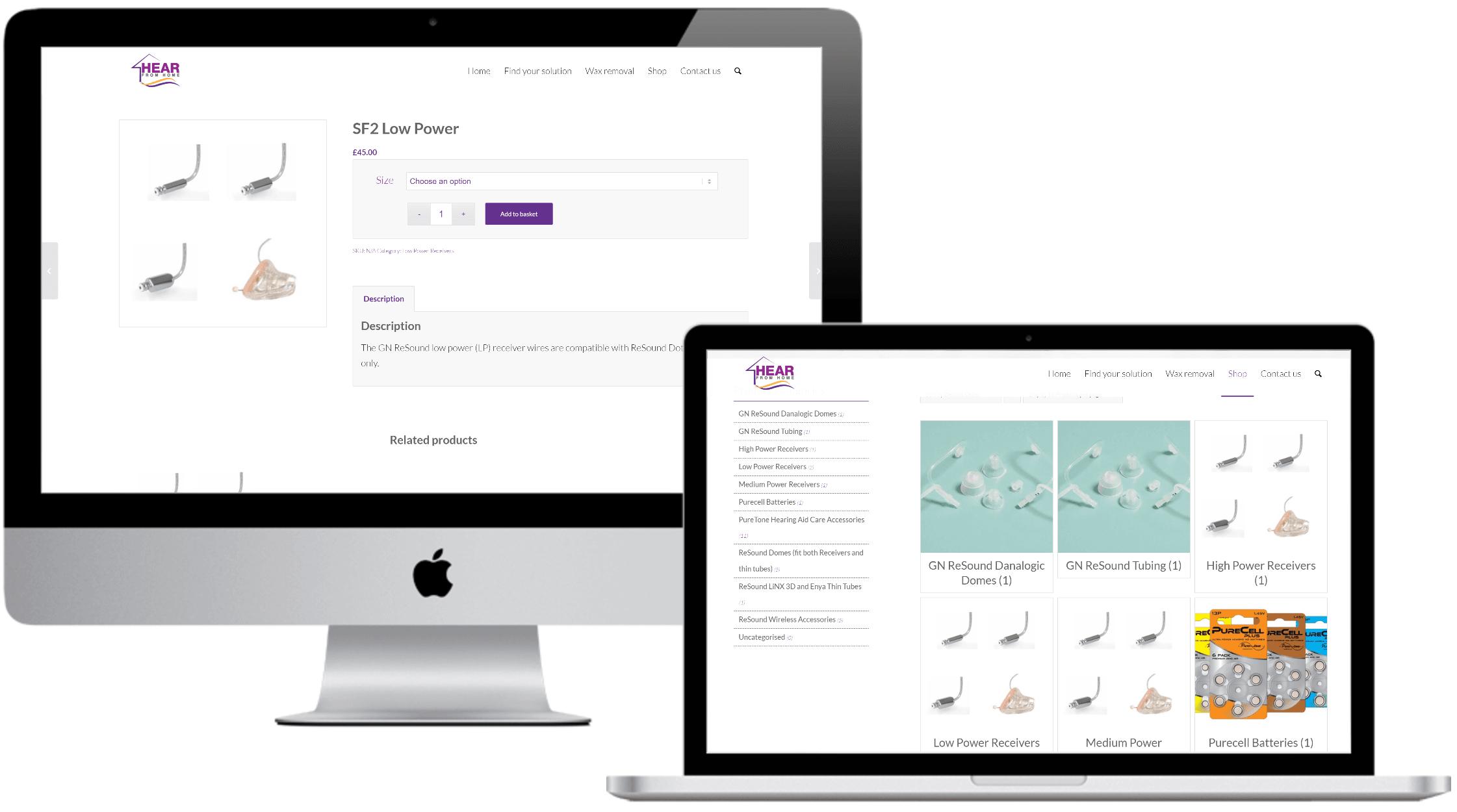 Healthcare e-commerce web development