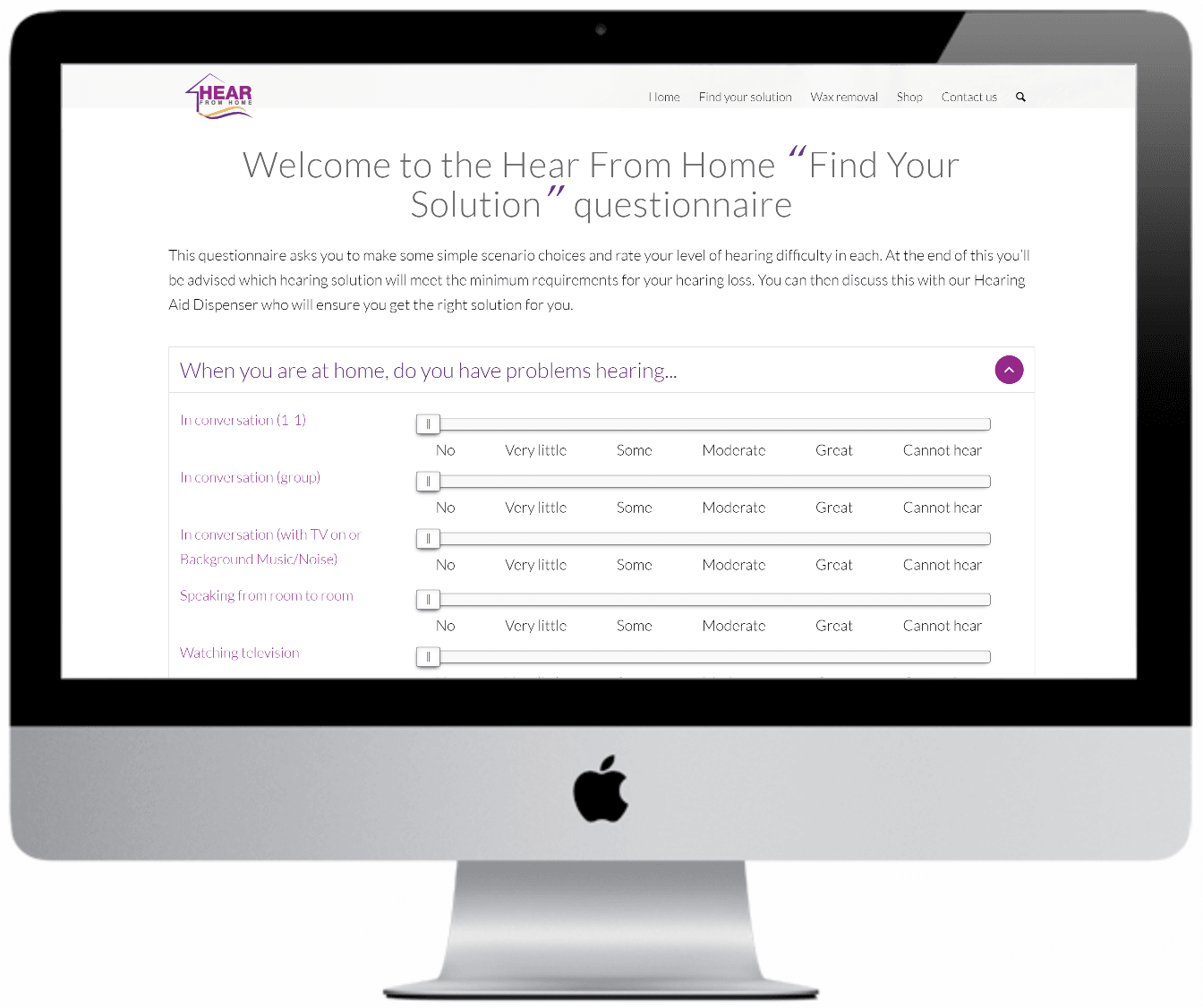 Hear from home website