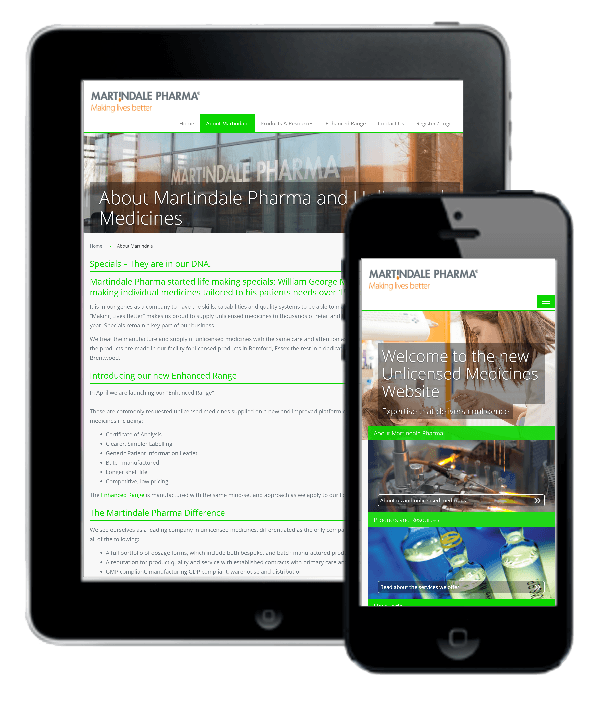 Responsive web development for Martindale Pharma
